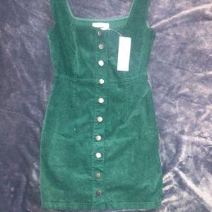 Green Button Up Fall Dress